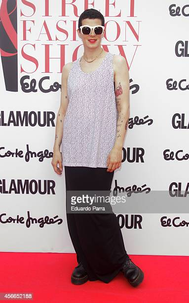 Model Bimba Bose attends 'Glamour street fashion show' photocall at Colon square on October 4, 2014 in Madrid, Spain.