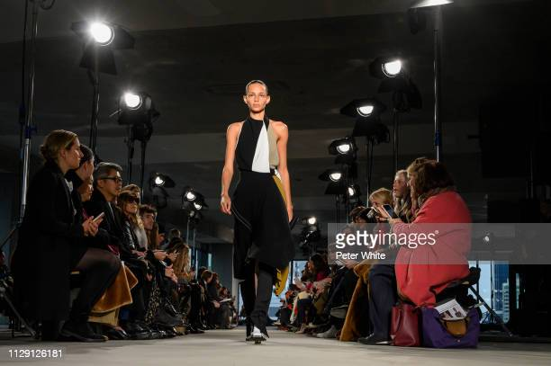 Model Binx Walton walks the runway at the Proenza Schouler fashion show during New York Fashion Week on February 11 2019 in New York City