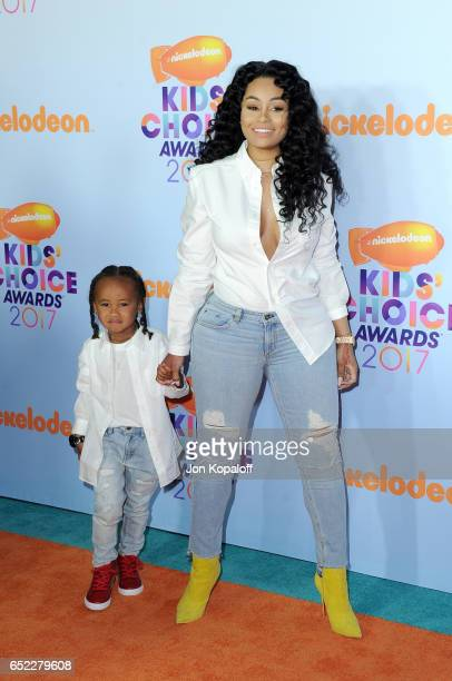 Model Blac Chyna and King Cairo Stevenson at Nickelodeon's 2017 Kids' Choice Awards at USC Galen Center on March 11 2017 in Los Angeles California