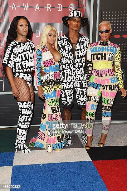 Model Blac Chyna and model Amber Rose attend the 2015 MTV Video Music Awards at Microsoft Theater on August 30, 2015 in Los Angeles, California.