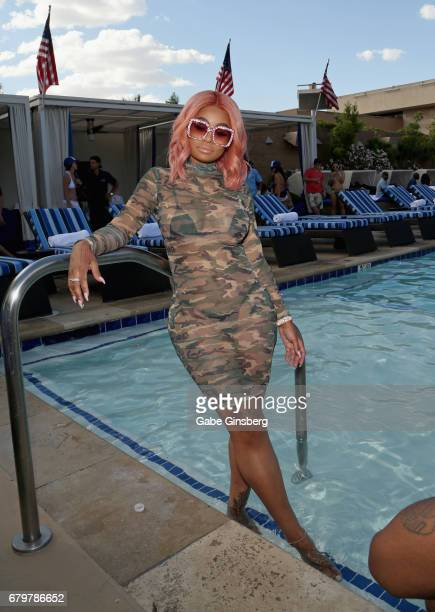 Model Blac Chyna hosts a pool party at the Sapphire Pool Day Club on May 6 2017 in Las Vegas Nevada