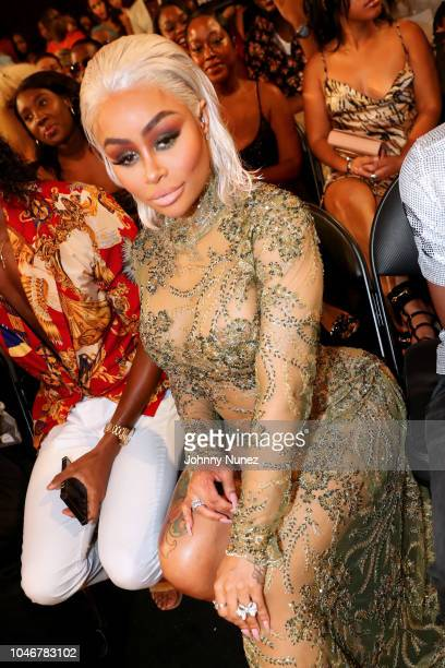 Model Black Chyna is seen backstage during the BET Hip Hop Awards 2018 at Fillmore Miami Beach on October 6 2018 in Miami Beach Florida