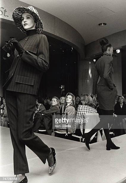Model Blaine Trump and Nan Kempner at the Saks Fifth Avenue in New York City New York