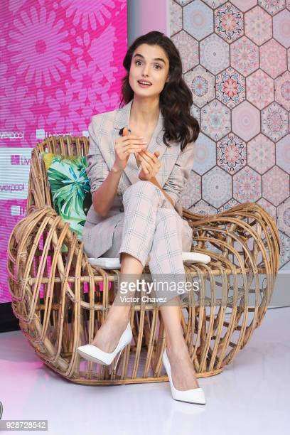 Model Blanca Padilla attends a press conference during the Liverpool Fashion Fest Spring/Summer 2018 at Hotel Camino Real Polanco on March 7 2018 in...