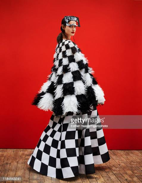 Model Blanca Padilla is photographed for Madame Figaro on January 26, 2018 in Paris, France. Cape, dress and mask by Dior Haute Couture. CREDIT MUST...