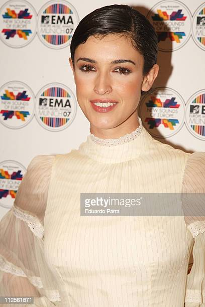Model Blanca Romero at MTV awards spanish party on October 16 2007 in Madrid Spain