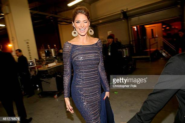 Model Blanca Soto poses backstage during the 14th Annual Latin GRAMMY Awards held at the Mandalay Bay Events Center on November 21 2013 in Las Vegas...