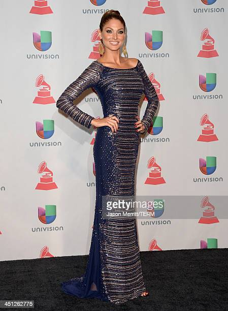 Model Blanca Soto poses in the press room at the 14th Annual Latin GRAMMY Awards held at the Mandalay Bay Events Center on November 21, 2013 in Las...