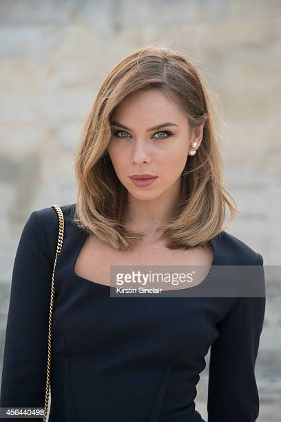 Model Blogger and Creative Designer of HouseOfNova Liliana Nova is wearing a Safiya London dress and Dior earing on day 7 of Paris Collections Women...