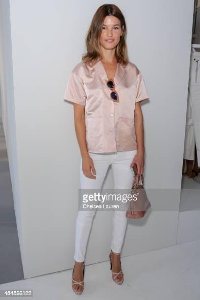 Model / blogger Hanneli Mustaparta attends the Frame Denim presentation on September 3 2014 in New York City