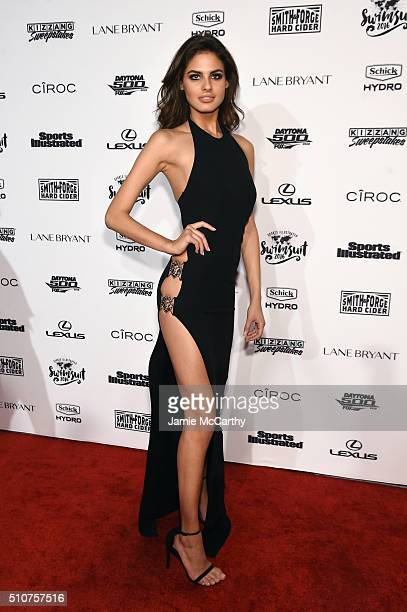 Model Bo Krsmanovic attends the Sports Illustrated Swimsuit 2016 NYC VIP press event on February 16 2016 in New York City