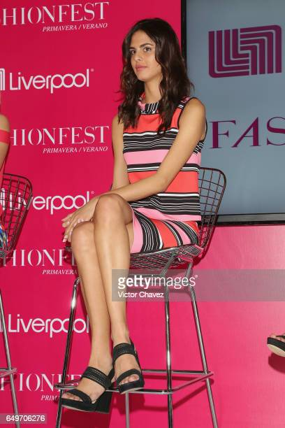 Model Bojana Krsmanovic attends a press conference during the Liverpool Fashion Fest Spring/Summer 2017 at Liverpool Insurgentes on March 8 2017 in...