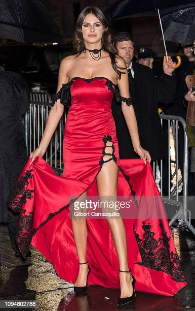 Model Bojana Krsmanovic is seen arriving to the amfAR New York Gala 2019 at Cipriani Wall Street on February 6 2019 in New York City