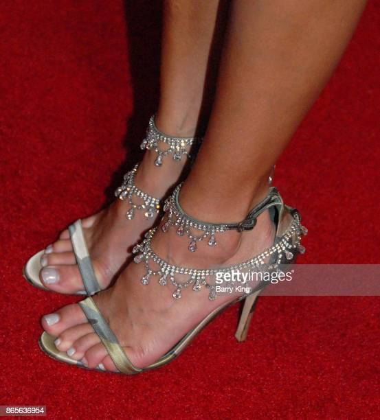 Model BonnieJill Laflin shoe detail attends the premiere of DreamWorks Pictures and Universal Pictures' 'Thank You For Your Service' at Regal LA Live...