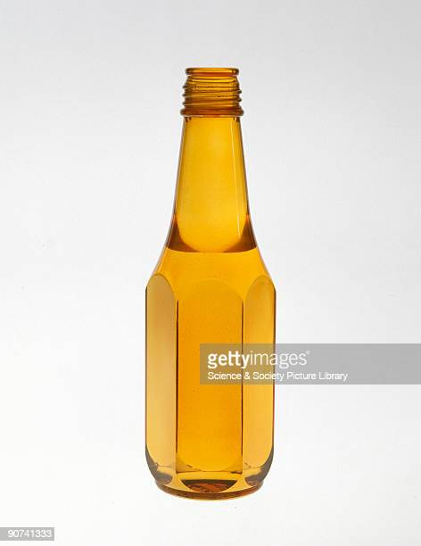 Model bottle in dyed perspex used as an aid to bottle design particularly to show the appearance of the filled bottle 1960 onwards Perspex is a trade...