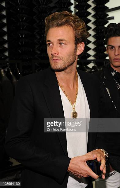 Model Brad Koenig attends the reopening of the CHANEL SoHo Boutique at the Chanel Boutique Soho on September 9 2010 in New York City