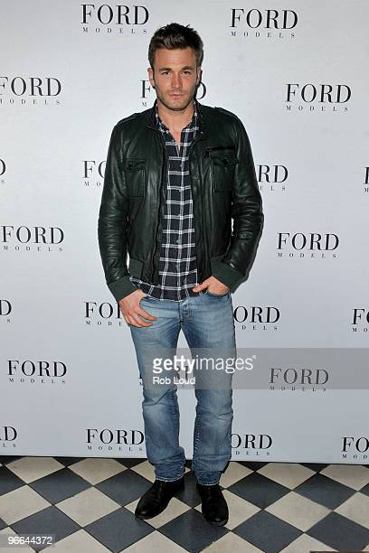 Model Brad Kroenig attends Fashion Week kick off party for Ford Models at the Gramercy Park Hotel on February 12 2010 in New York City