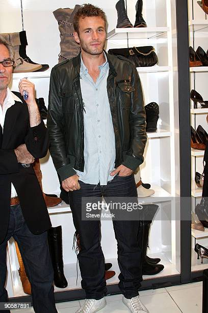 Model Brad Kroenig attends the celebration for Fashion's Night Out at ALDO on September 10 2009 in New York City