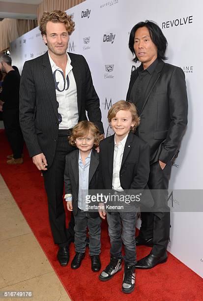 Model Brad Kroenig Jameson Kroenig Hudson Kroenig and V Magazine EditorInChief Stephen Gan attend The Daily Front Row Fashion Los Angeles Awards 2016...