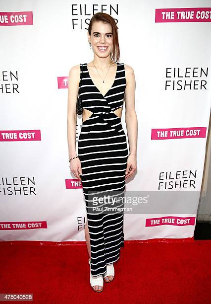 Model Brana Dane attends 'The True Cost' New York Premiere at IFC Center on May 28 2015 in New York City