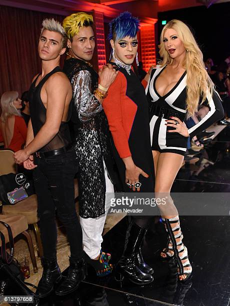 model Brandon Cole Bailey actor Jesus Trujillo pop artists and actor Sham Ibrahim and actress Cassandra Cass attend Art Hearts Fashion Los Angeles...