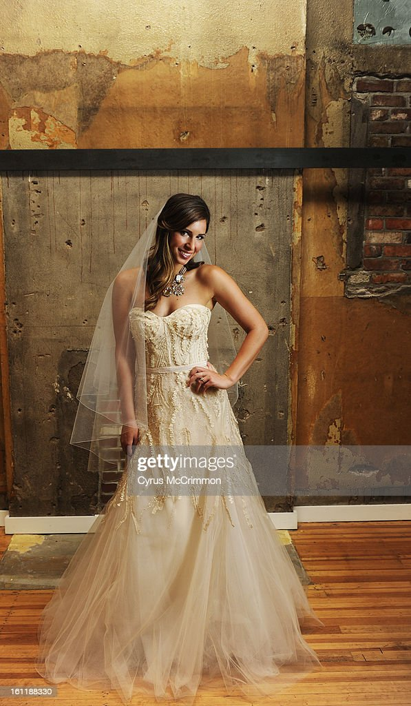Model Breanna Ortola Wears A Monique Lhuillier Wedding Dress At Anna B Bridal Boutique In Lohi