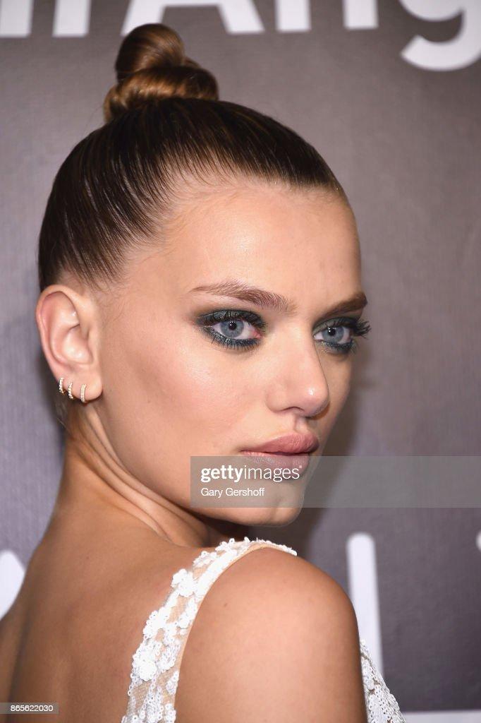 Model Bregje Heinen attends Angel Ball 2017 at Cipriani Wall Street on October 23, 2017 in New York City.