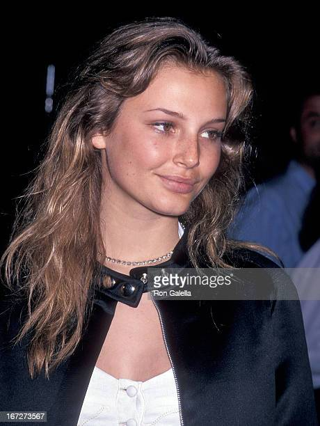 Model Bridget Hall attends the Third Annual 'Boathouse Rock' Dance Party to Benefit amfAR on June 6 1994 at the Central Park Boathouse in New York...