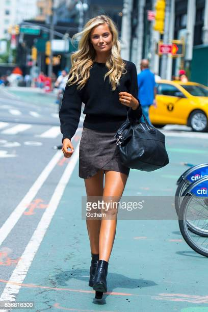 Model Bridget Malcolm attends call backs for the 2017 Victoria's Secret Fashion Show in Midtown on August 21 2017 in New York City