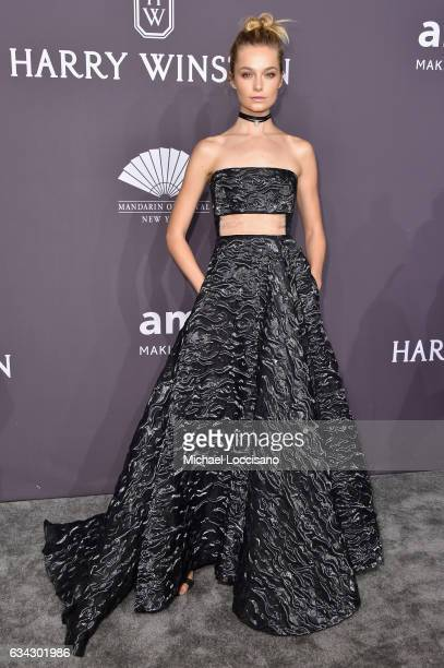 Model Bridget Malcolm attends the 19th Annual amfAR New York Gala at Cipriani Wall Street on February 8 2017 in New York City
