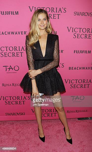 Model Bridget Malcolm attends the 2015 Victoria's Secret Fashion Show after party at TAO Downtown on November 10 2015 in New York City