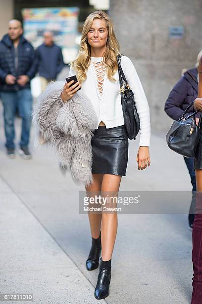 Model Bridget Malcolm attends the 2016 Victoria's Secret Fashion Show call backs on October 24 2016 in New York City