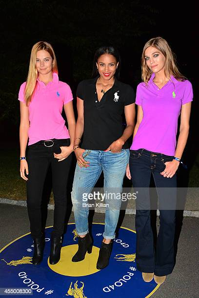 Model Bridget Malcolm singer Ciara and model Samantha Gradoville attend Polo Ralph Lauren For Women during MercedesBenz Fashion Week Spring 2015 at...