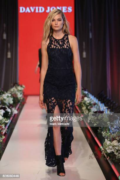 Model Bridget Malcolm walks the runway in a design by Manning Cartell during rehearsal ahead of the David Jones Spring Summer 2017 Collections Launch...