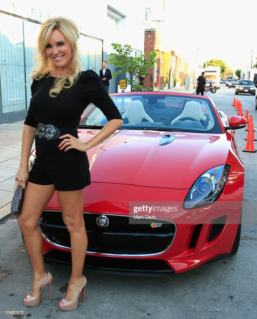 Model Bridget Marquardt poses at the 'Jaguar and Gilt celebrate #MyTurnToJag' held at Siren Studios on July 23, 2013 in Hollywood, California.