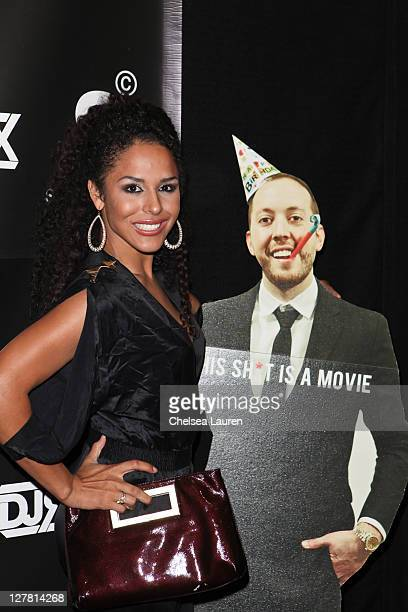 Model Brittany Bell arrives at DJ Reflex's 30th Birthday Celebration at SupperClub Los Angeles on March 29 2011 in Los Angeles California