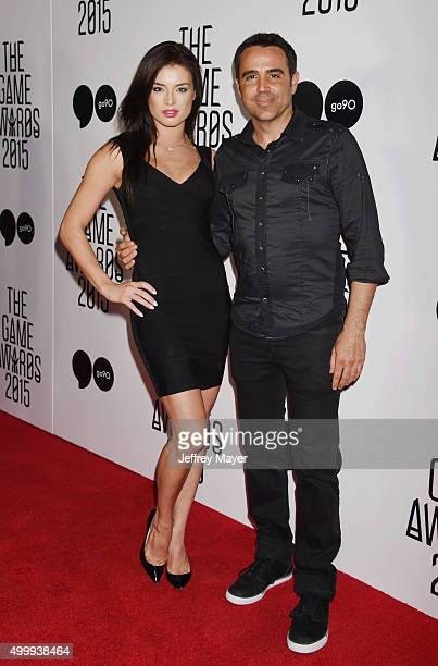 Model Brittany Brousseau and actor/director Blake Freeman arrive at The Game Awards 2015 - Arrivals at Microsoft Theater on December 3, 2015 in Los...