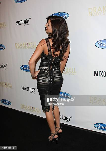Model Brittany Brousseau attends Drake Bell's album release party for 'Ready Steady Go' at Mixology101 Planet Dailies on April 17 2014 in Los Angeles...