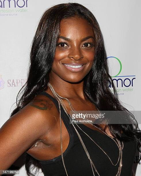 Model Brooke Bailey attends the BET Awards 2012 kickoff party at Rolling Stone Restaurant And Lounge on June 26 2012 in Los Angeles California