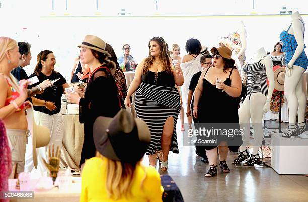 Model Brooke Barrows attends the TORRID #OwnIt Pool Party at The Commune Ace Hotel Palm Springs on April 9 2016 in Palm Springs California