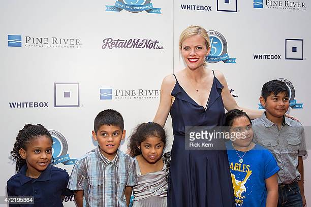 Model Brooklyn Decker and students from Pecan Springs Elementary School attend the 10th Annual Andy Roddick Foundation Gala at ACL Live on May 4 2015...