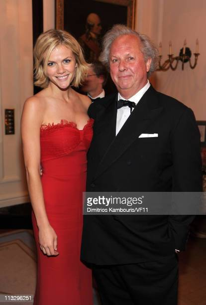Model Brooklyn Decker and Vanity Fair Editor Graydon Carter attend the Bloomberg & Vanity Fair cocktail reception following the 2011 White House...