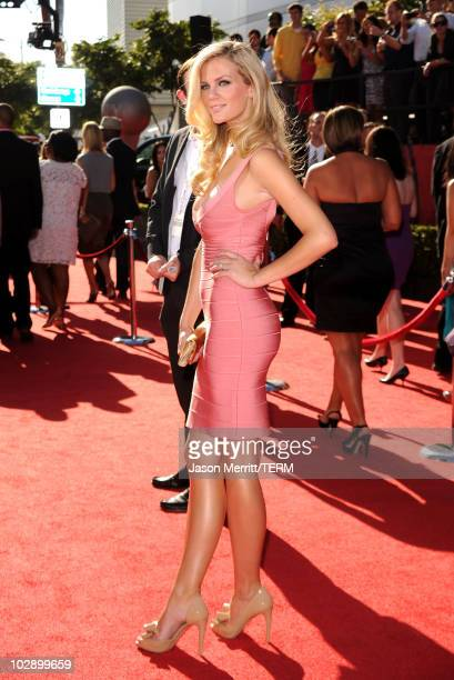Model Brooklyn Decker arrives at the 2010 ESPY Awards at Nokia Theatre LA Live on July 14 2010 in Los Angeles California