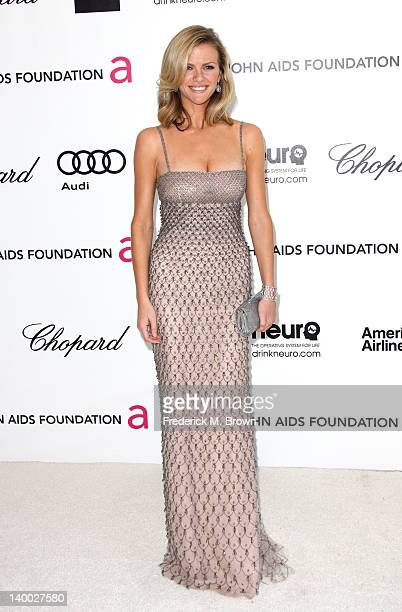 Model Brooklyn Decker arrives at the 20th Annual Elton John AIDS Foundation's Oscar Viewing Party held at West Hollywood Park on February 26 2012 in...