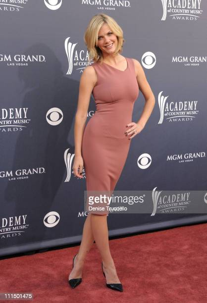 Model Brooklyn Decker arrives at the 46th Annual Academy Of Country Music Awards RAM Red Carpet held at the MGM Grand Garden Arena on April 3 2011 in...