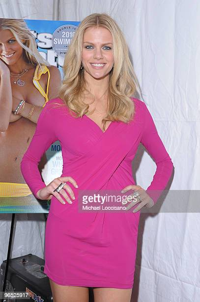 Model Brooklyn Decker attends the Sports Illustrated Swimsuit 24/7 New York Launch Party at Provocateur at The Hotel Gansevoort on February 9 2010 in...