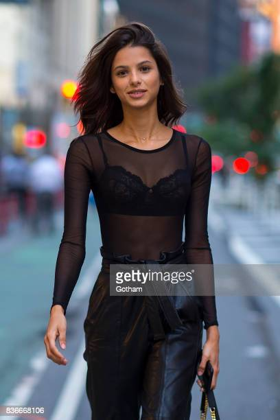 Model Bruna Lirio attends call backs for the 2017 Victoria's Secret Fashion Show in Midtown on August 21 2017 in New York City
