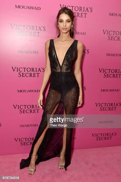 Model Bruna Lirio attends the 2017 Victoria's Secret Fashion Show In Shanghai After Party at MercedesBenz Arena on November 20 2017 in Shanghai China
