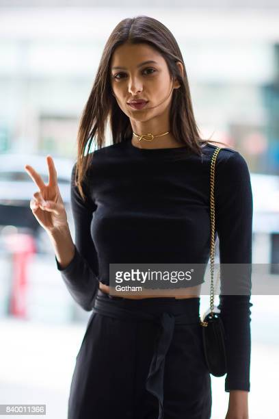 Model Bruna Lirio is seen going to fittings for the 2017 Victoria's Secret Fashion Show in Midtown on August 27 2017 in New York City