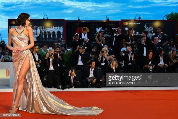 """Model Bruna Marquezine arrives for the premiere of the film """"The Sisters Brothers"""" presented in competition on September 2, 2018 during the 75th..."""